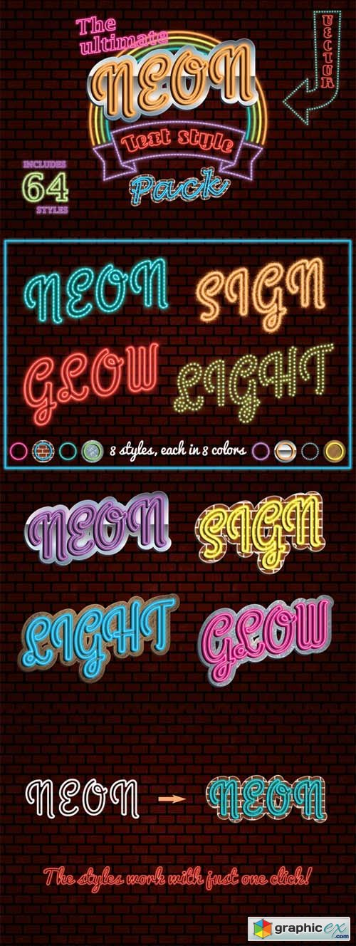 The Ultimate Neon Text Styles Pack