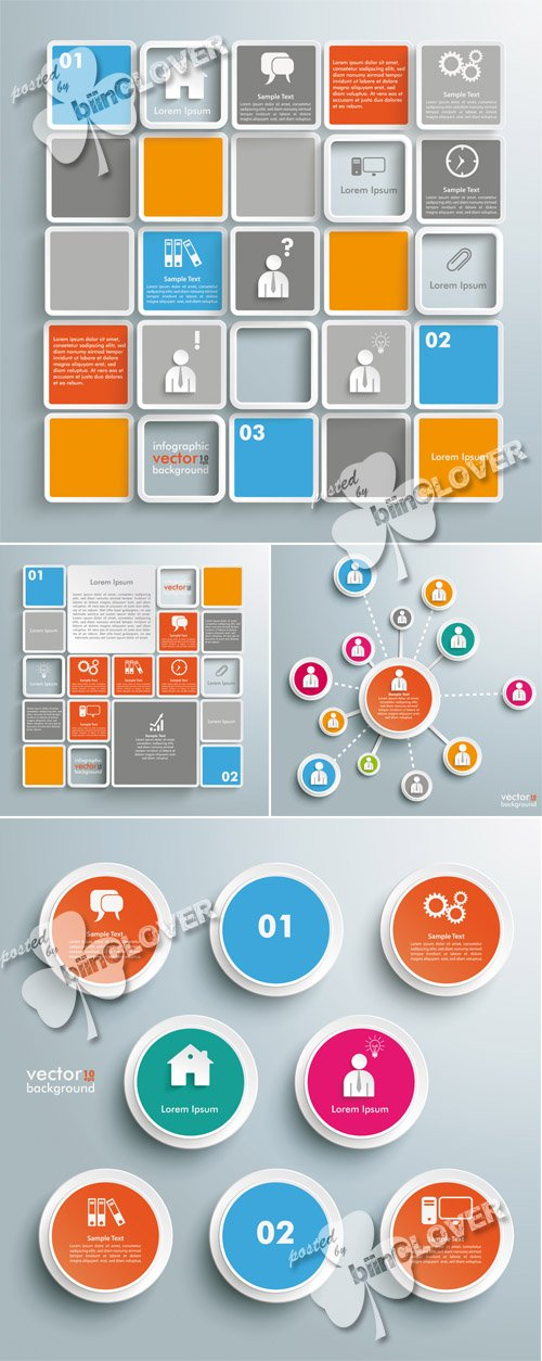 Vector Business infographic elements