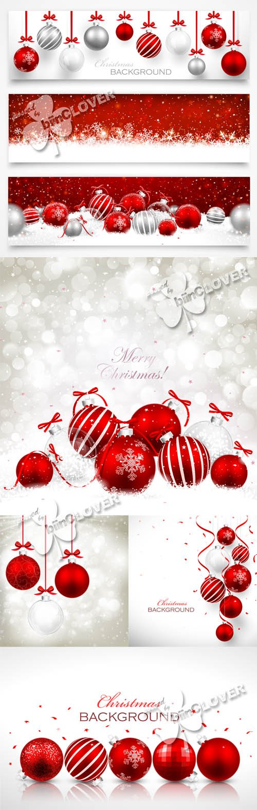 Christmas cards with red balls