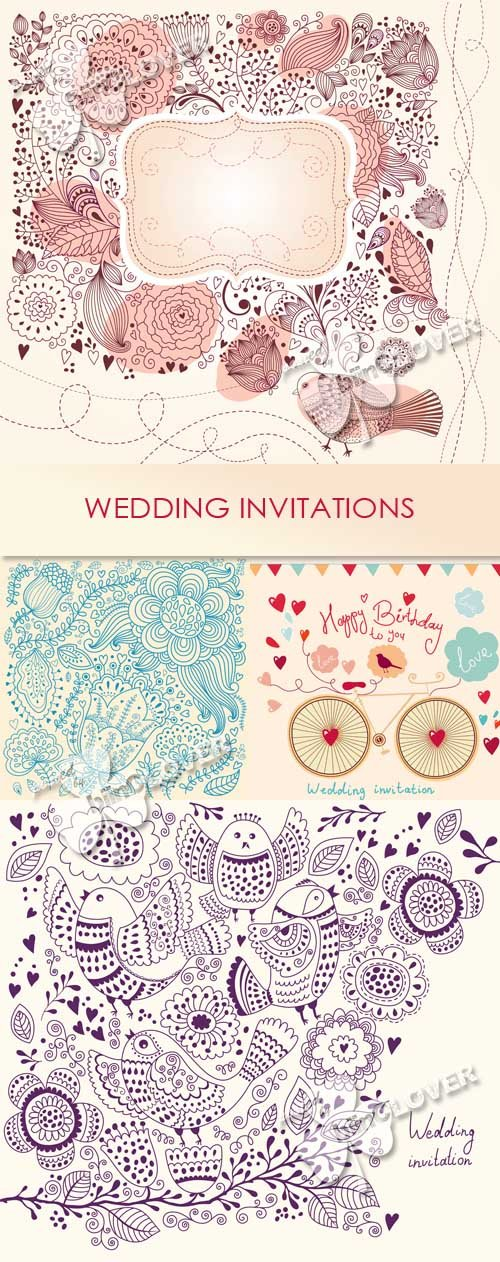 Vector Wedding invitations