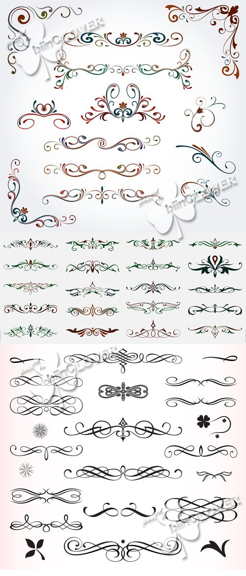 Calligraphic design elements and ornaments