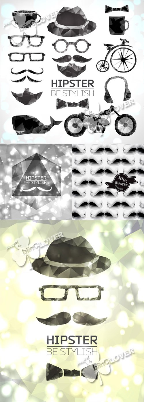 Vector Hipster style elements