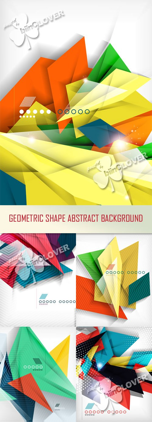 Geometric shape abstract background
