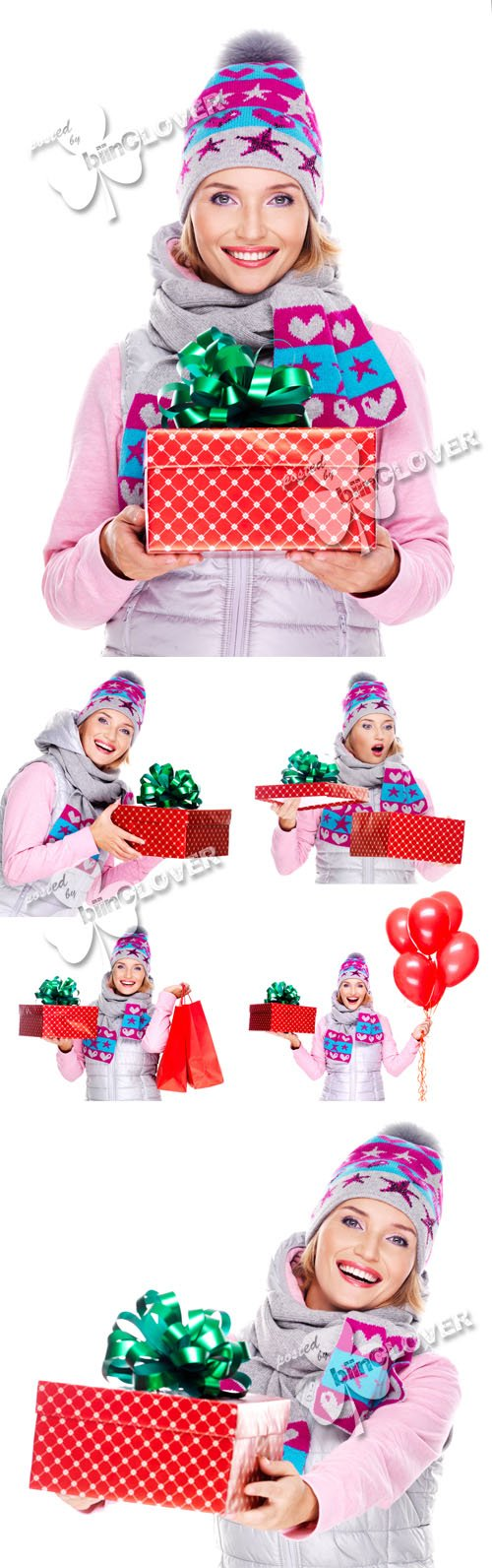 Woman and Christmas gifts