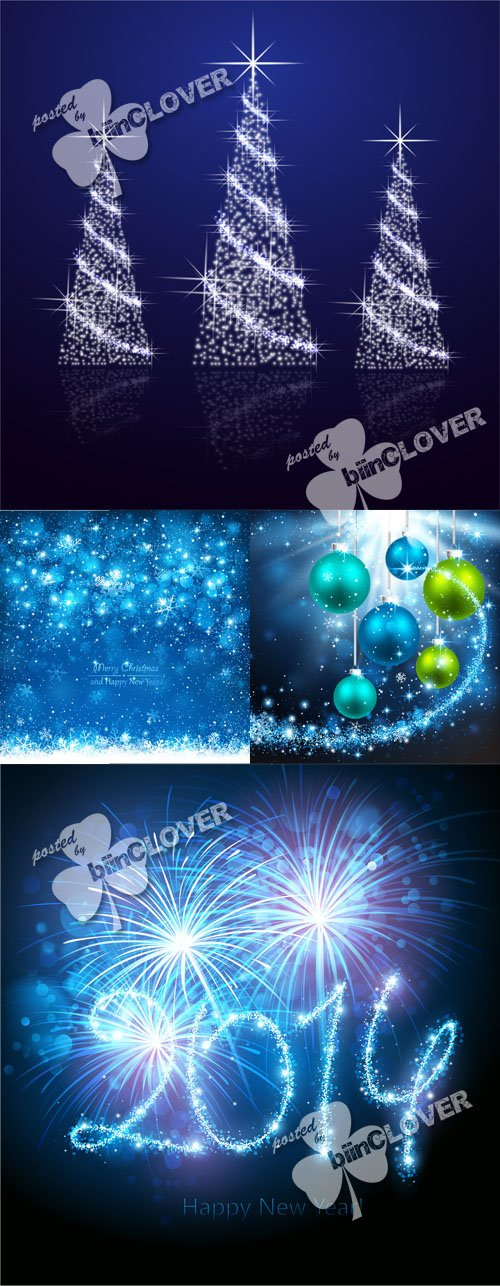 Vector New Year 2014 cards