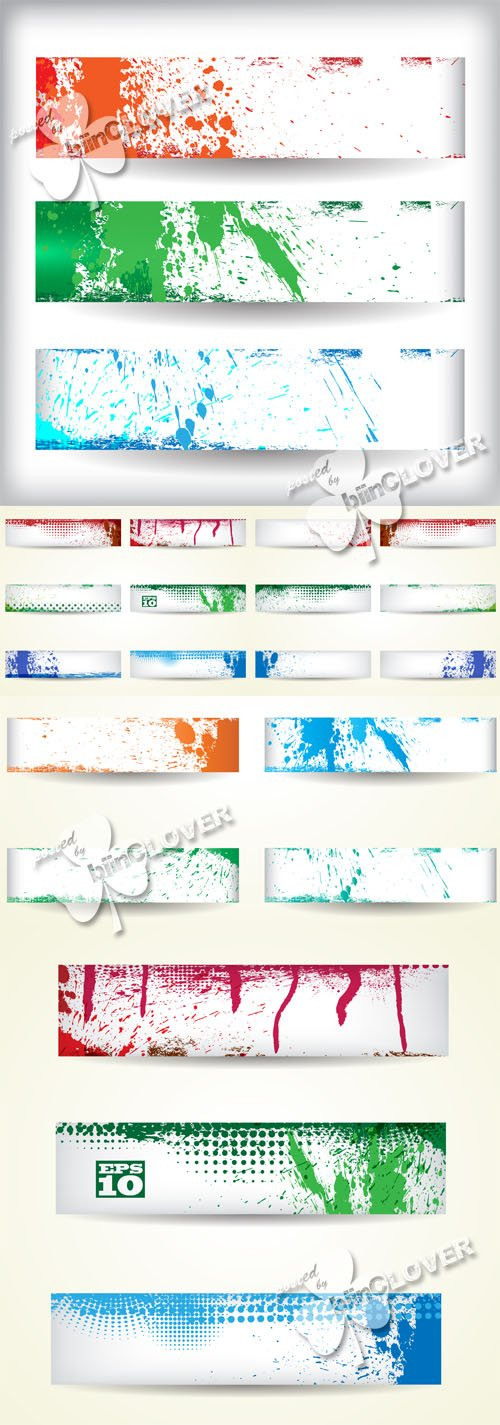 Vector Grunge banners with blots