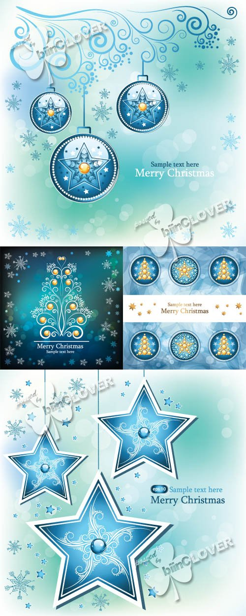 Vector Blue christmas card