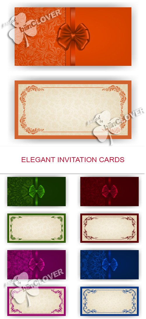Vector Elegant invitation cards