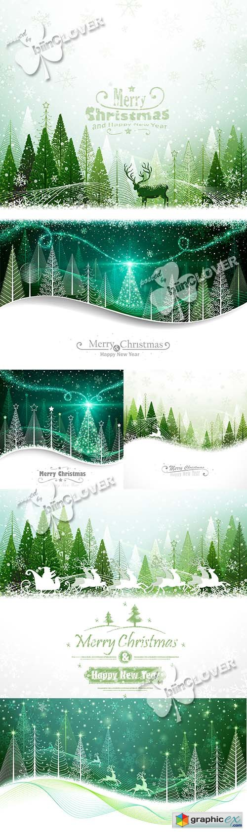 Vector Merry Christmas cards