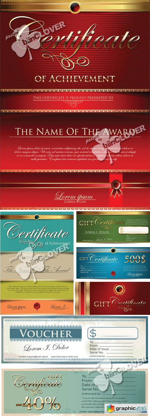 Vector Gift certificate template
