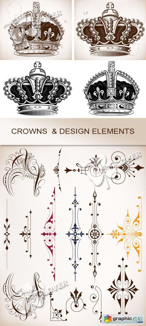 Vector Crowns and design elements