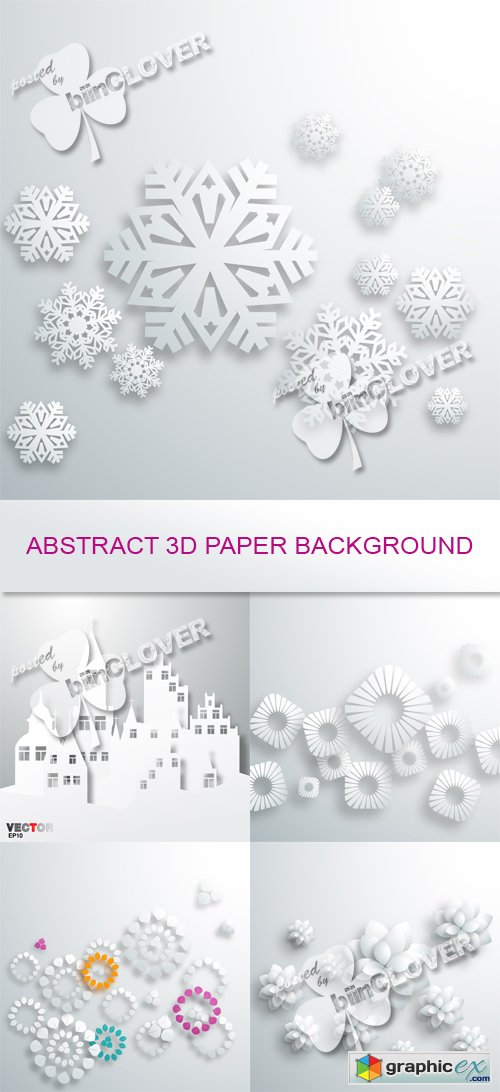 Vector Abstract 3D paper backgrounds