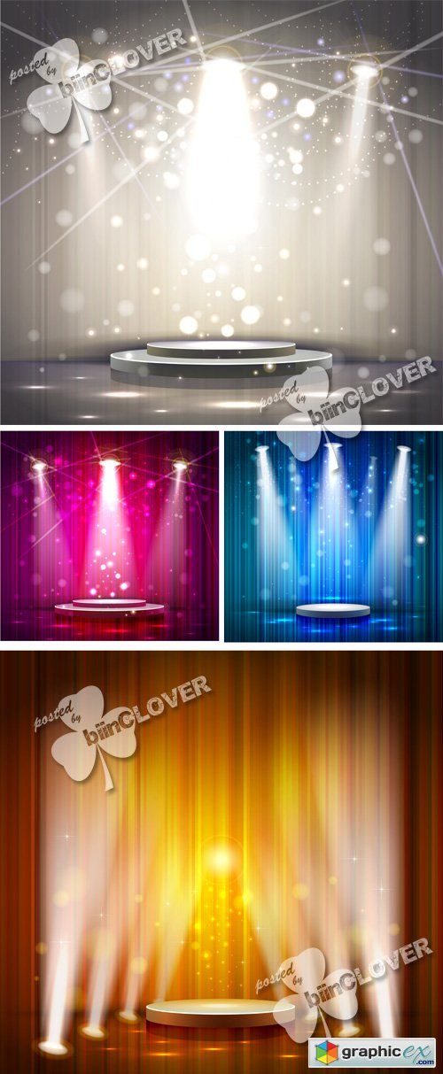 Vector Spotlight effect background 0532