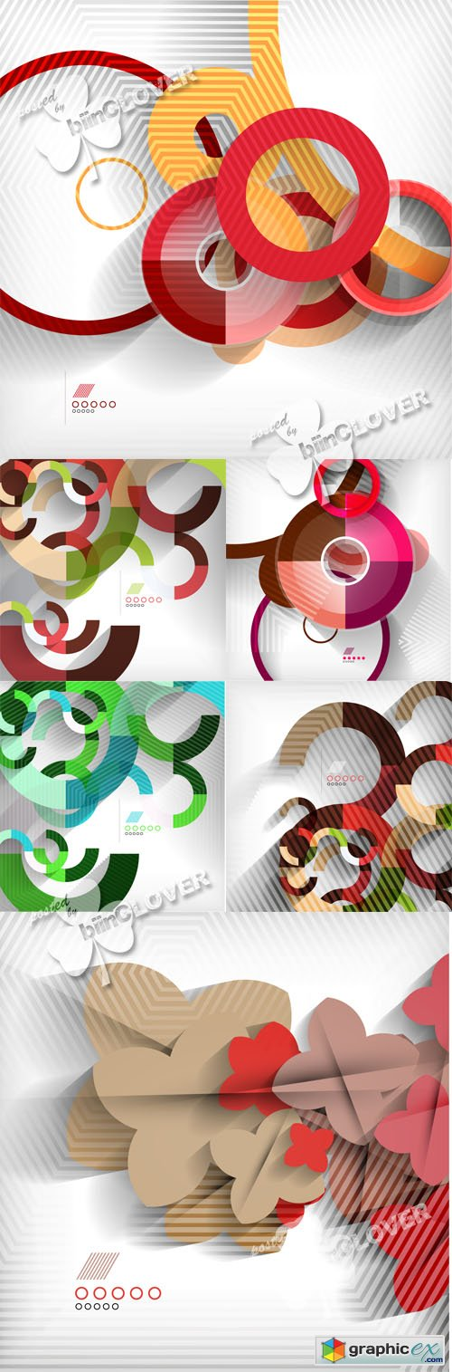 Vector Geometric modern abstract background 0532