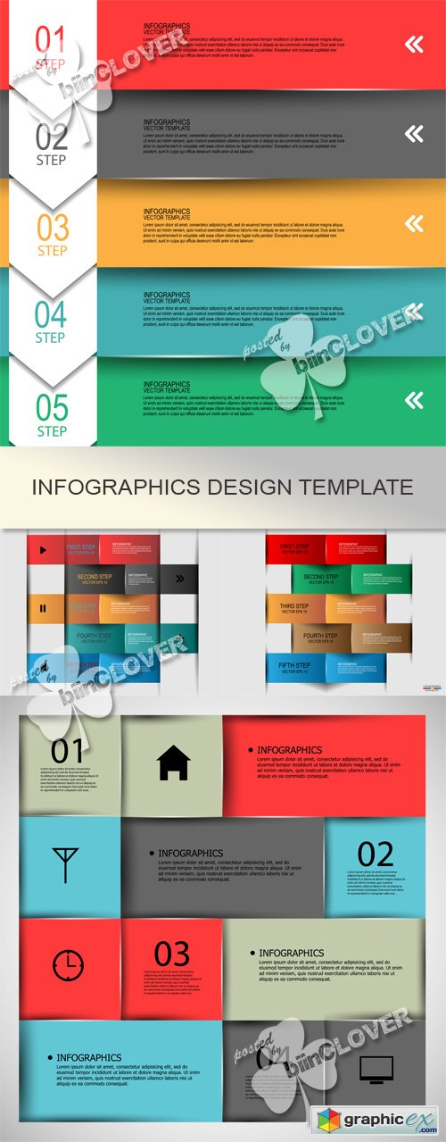 Vector Infographics design template 0532