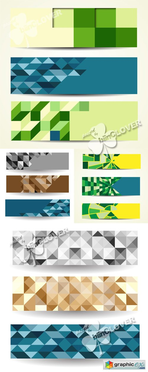 Vector Abstract geometric banners 0532