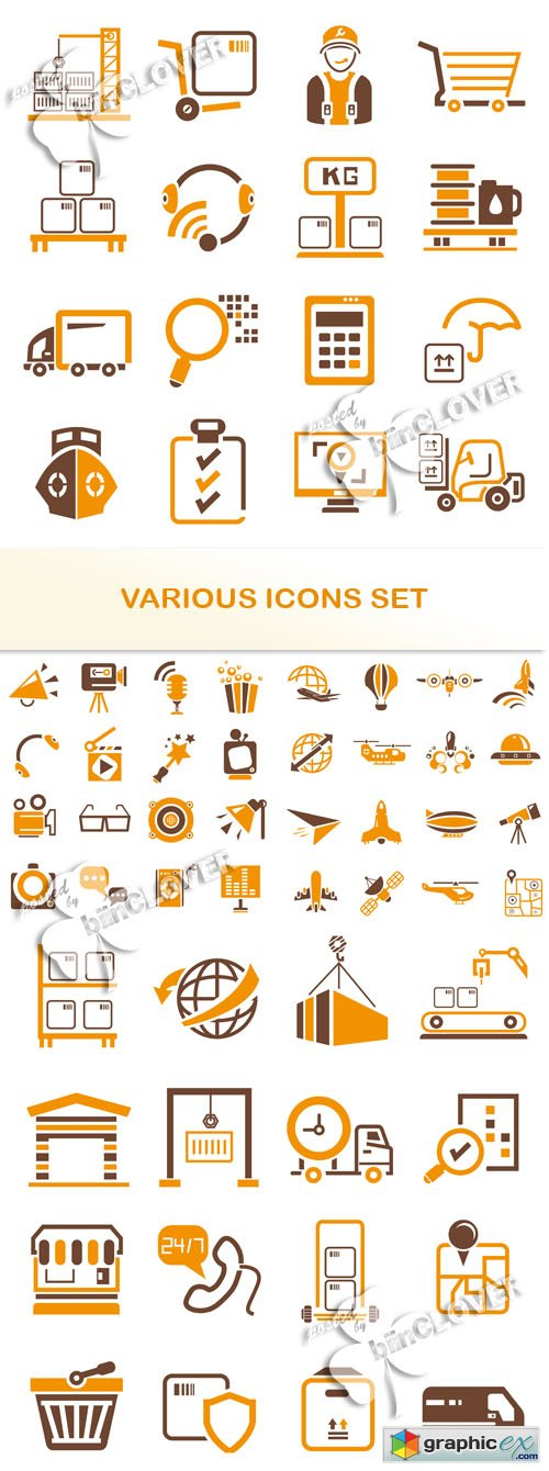 Various icons set 0531