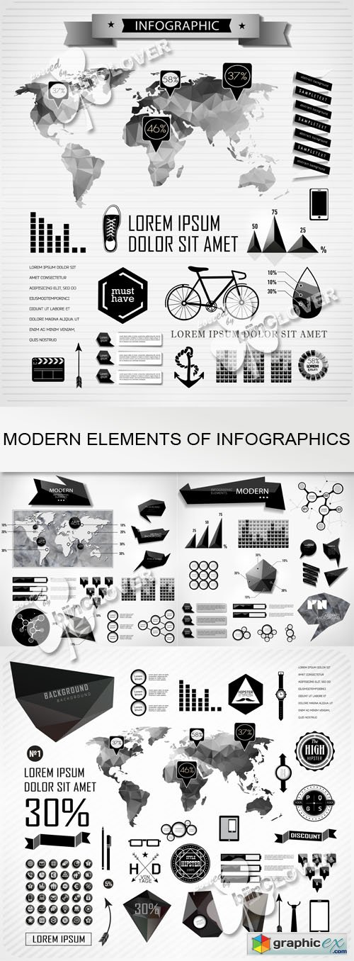 Vector Modern elements of info graphics 0530