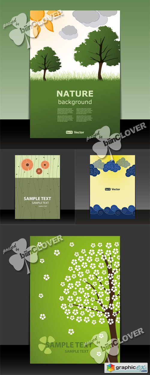 Vector Flyer and brochure design 0530