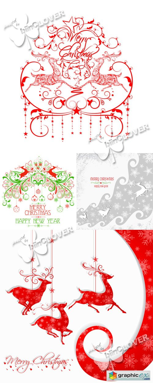 Vector Merry Christmas background 0529
