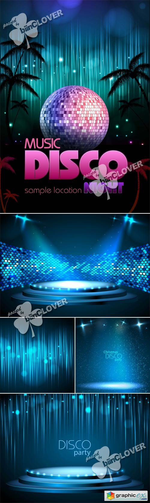 Vector Disco background 0529Disco background