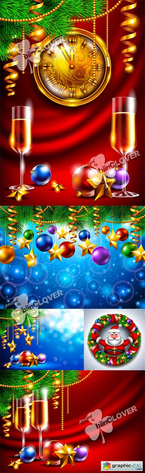 Vector New Year background 0527