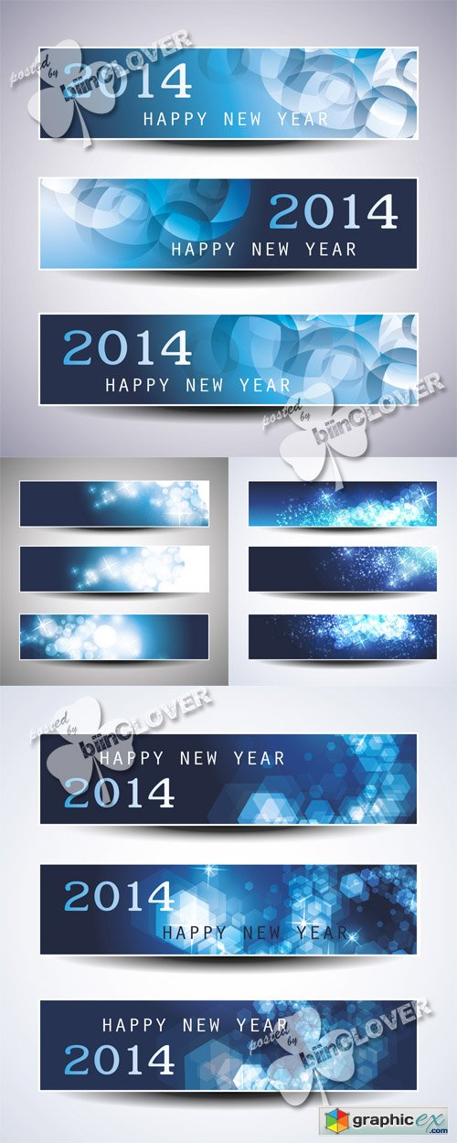 Vector New Year banners 0528
