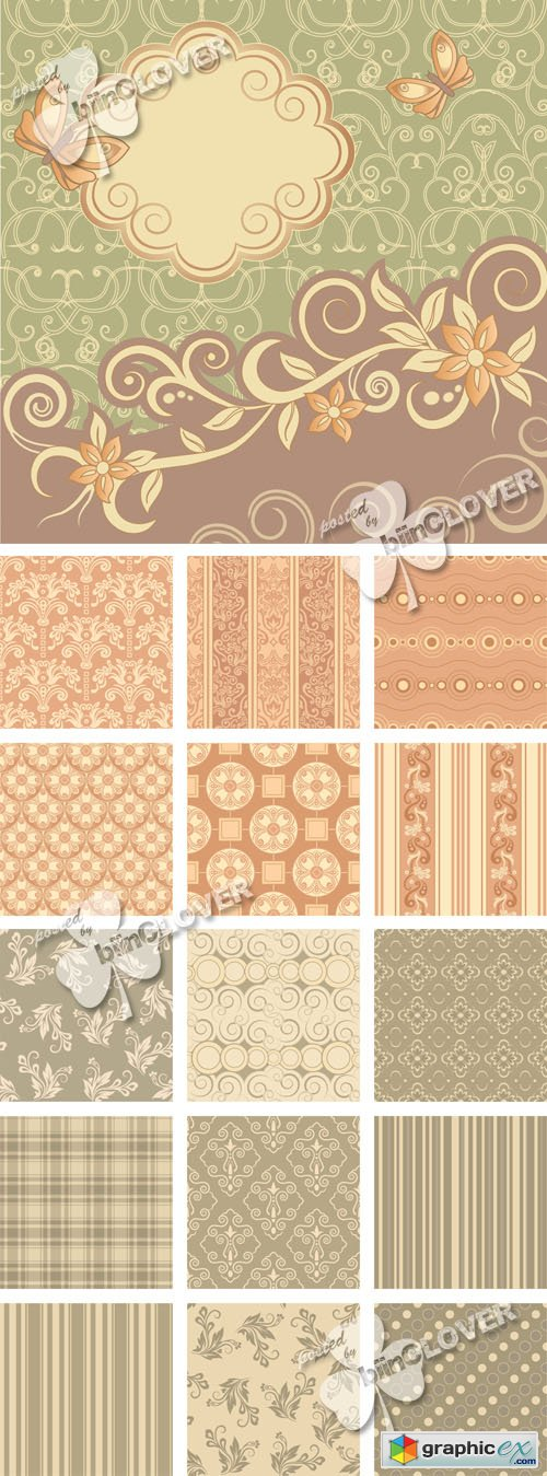 Vector Retro seamless background 0526