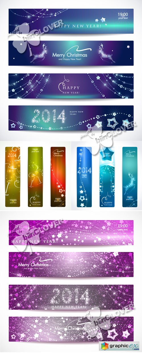 Vector 2014 New Year banners 0524