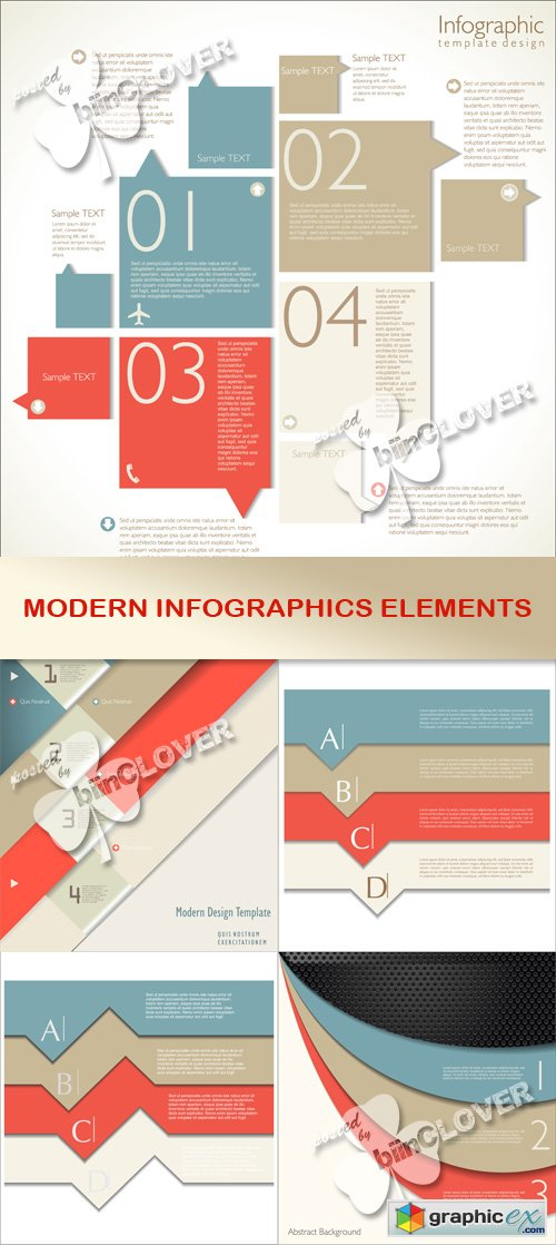 Vector Modern infographics elements 0524