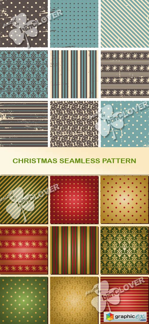 Vector Christmas seamless pattern 0524