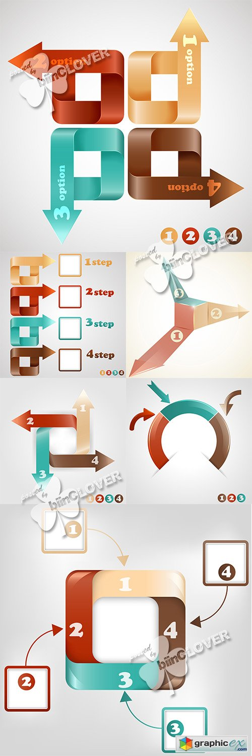 Vector Infographic elements template 0520