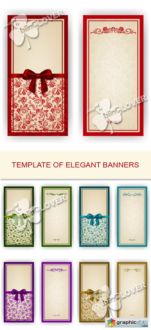 Vector Template of elegant banners 0522