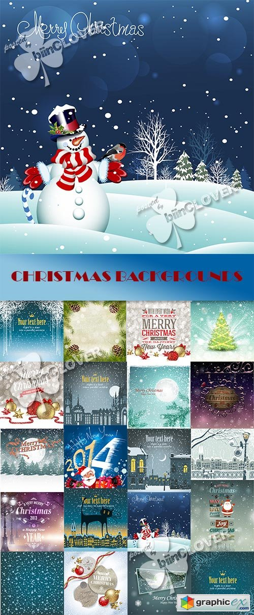 Vector Christmas backgrounds 0545