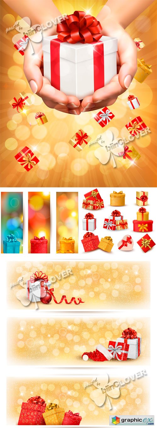 Vector Gift boxes concept 0521