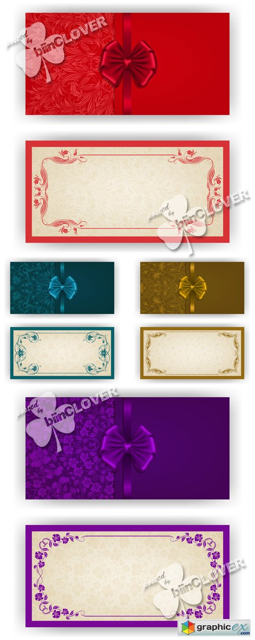 Vector Luxury invitation cards 0521