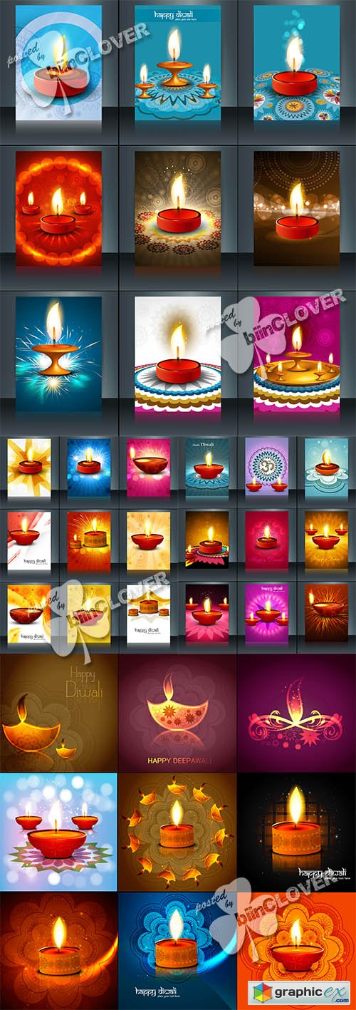 Vector Happy diwali design 0520