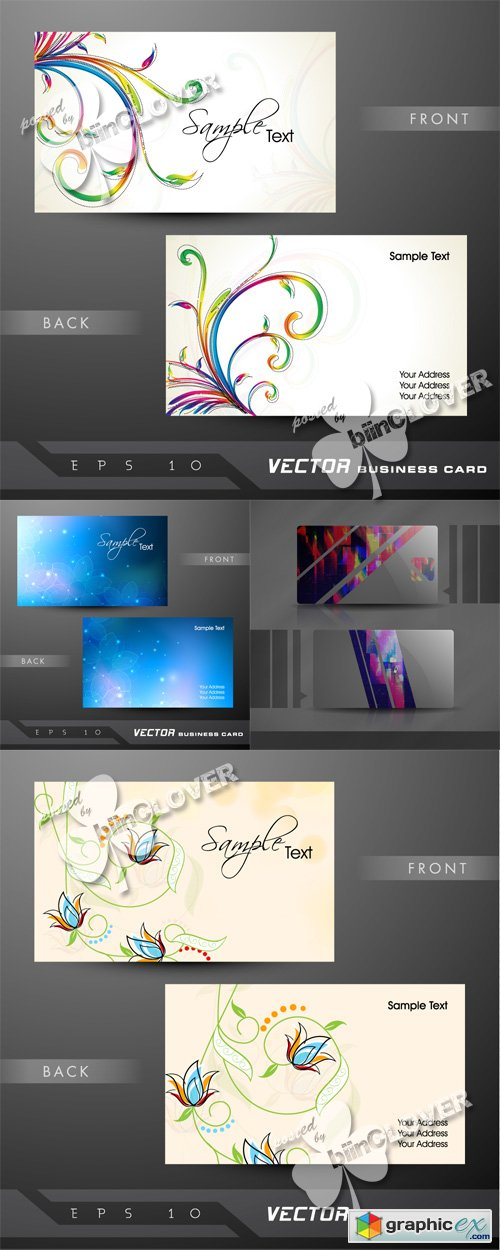 Vector Business card design 0519