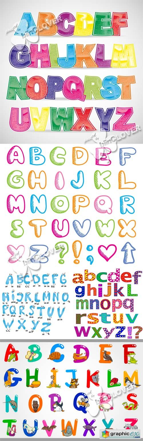 Vector Colorful alphabet letters 0518