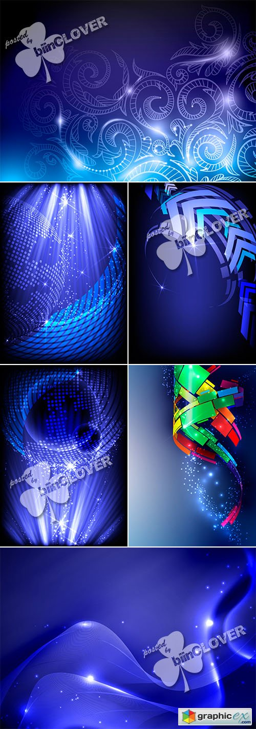 Vector Blue abstract background 0516