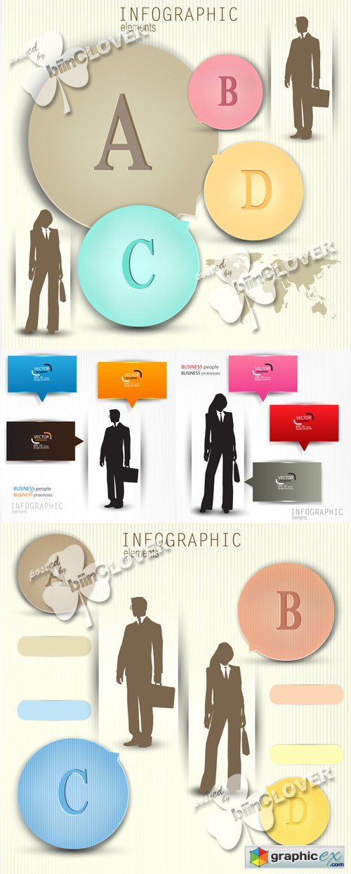 Vector Business design elements 0546