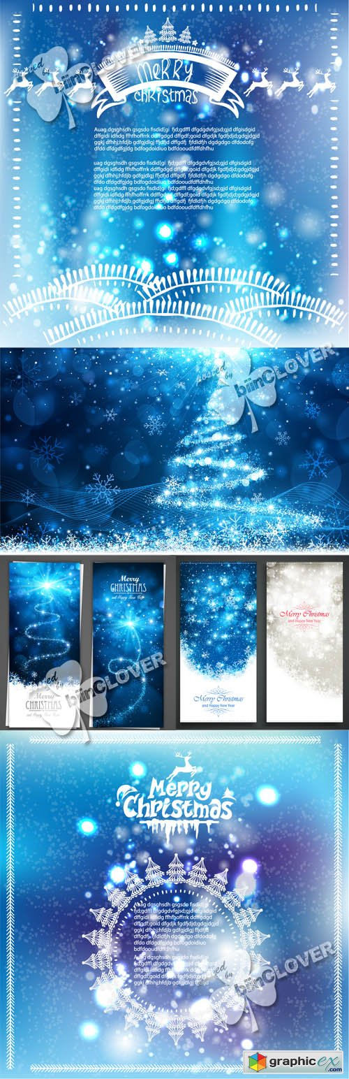 Vector Christmas backgrounds 0546