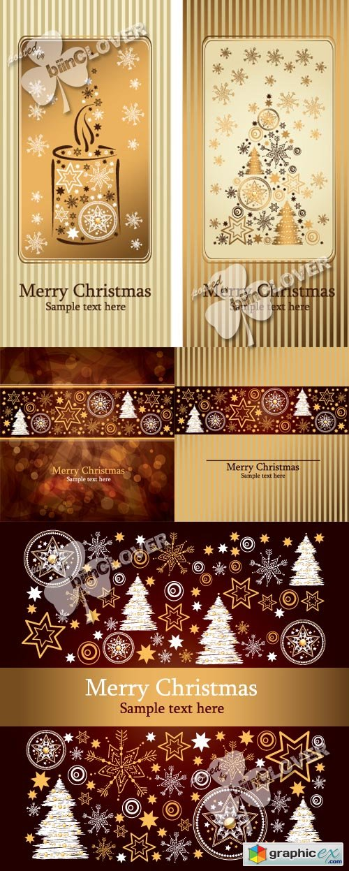 Vector Christmas cards 0546