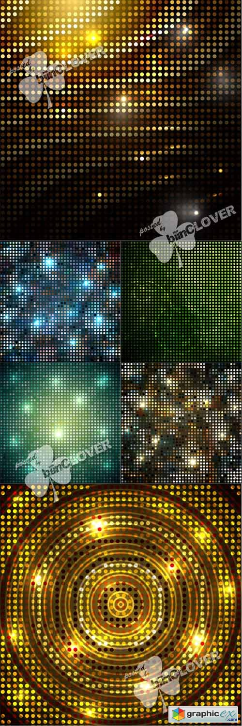 Vector Mozaic glittering backgrounds 0546