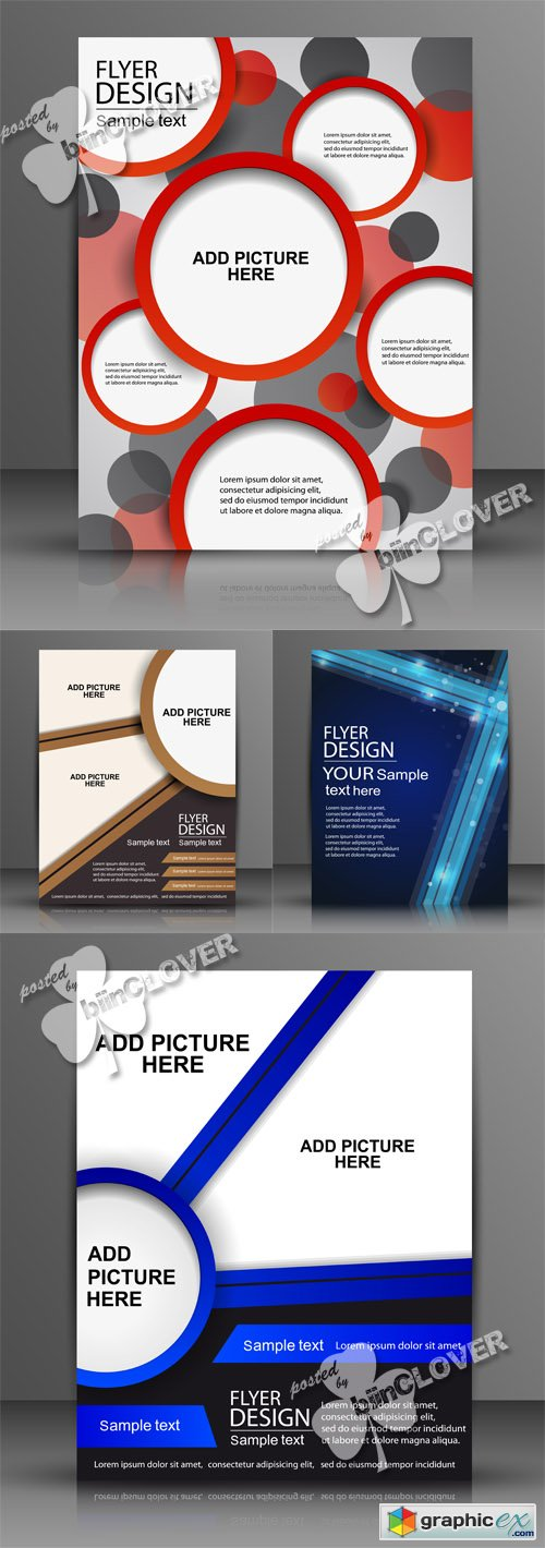 Vector Abstract flyer design 0512