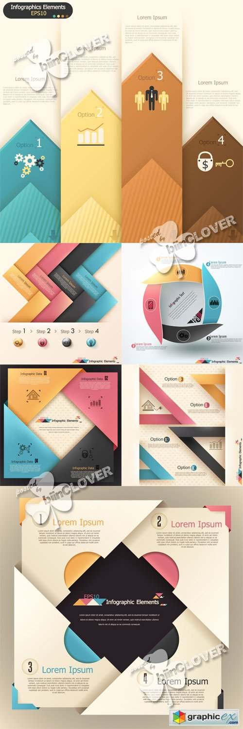 Vector Modern infographics elements 0511