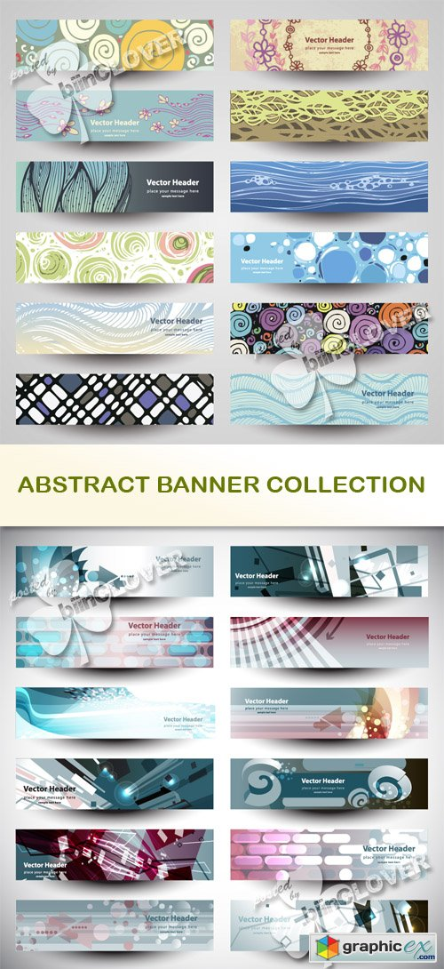 Vector Abstract banner collection 0511