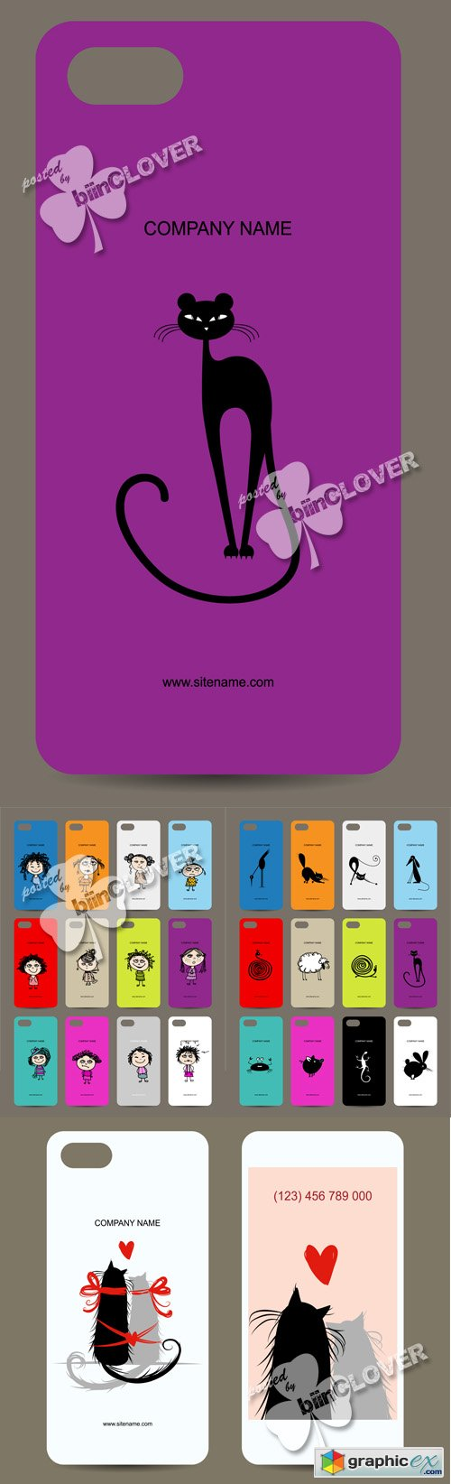 Vector Mobile phone cover back design 0510