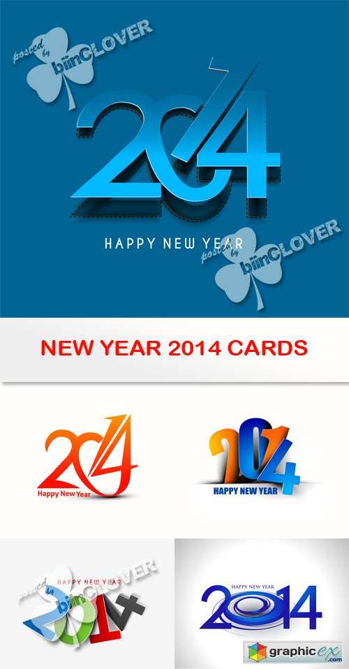 Vector New year 2014 cards 0510