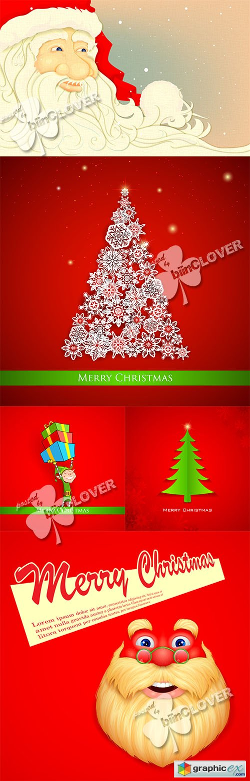 Vector Merry Christmas cards 0510